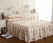 Rose Lila Blumenmuster Einzelbett Bettüberwurf