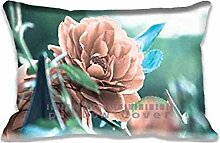 Rose Pillow Cases Protector 20x30 inch Sofa Bed Home D¨¦cor Standard Size Pillow Covers(Twin Sides)