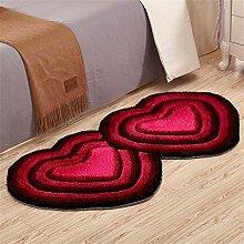 Rose rot 70 * 140 cm europäischen Wohnzimmer Zimmer Schlafzimmer Nacht Matratze herzförmigen Teppich