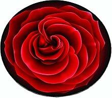 Rose Round Carpet 5MM Dicke Kurze Fuzz Oberfläche