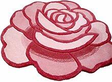 Rose runden Teppich rutschfest Halten Sie warme Bedside Matten Dekoration Teppich ( farbe : # 2 , größe : 90*90cm )