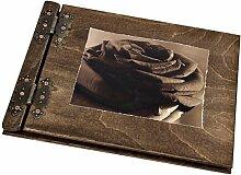Rose sepia Fotoalbum aus Holz Edelholzverarbeitung
