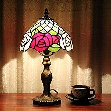 Rose Tiffany-Buntglas Tiffany-Lampen