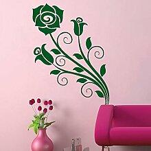Rose Triplet Romantische Wand Vinyl Wohnzimmer Aufkleber Easy Peel & Stick Aufkleber