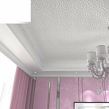 rose/ultra dicken Vliestapete/Stereo3DGeprägte Tapete/Romantische Garten Schlafzimmer Tischplattentapeten-A