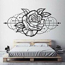 Rose Wandkunst Aufkleber Moderne Geometrische