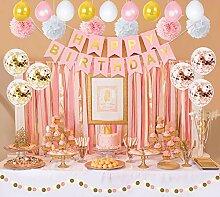 Roségold Geburtstag Party Dekoration für