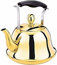 Roségold-Teekessel Edelstahl-Teekanne Pfeifkessel