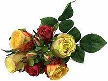 Rosen Bund 30 cm Seidenblumen Kunstblumen Rose