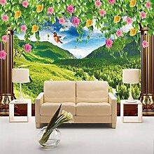 Rosen-Fenster-Waldwiese,3D Naturlandschaft