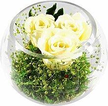 Rosen-te-amo Haltbare Blumen-Strauss in der Vase
