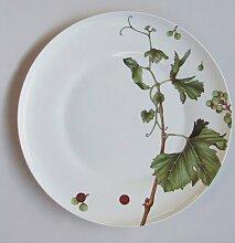 Rosenbank 32cm Teller mit Abendessen Sommerallee