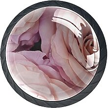Rosenblüten Frühling, 4Pack ABS Kommode Knöpfe