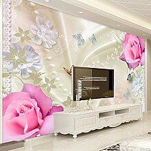 Rosenblumenwandbild,Tapete Wandtattoo,3D-Tv