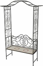 Rosenbogen Florenza mit Bank, Rosenbank, Mosaik Möbel im Mediterrane Stil