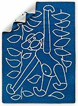 Rosendahl 39441 Kay Bojesen Wolldecke, Schurwolle, blau, 120 x 80 x 2 cm