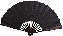 ROSENICE Männer Falten Bambus Hand Fan Hochzeitsparty Geschenk (schwarz)