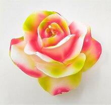 Rosenkerze weiß rosa D. 11cm Formano F21