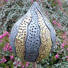 Rosenkugel Ton handgemacht Ø 13 cm