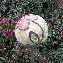 Rosenkugel Ton handgemacht Ø 9 cm Nr. 110