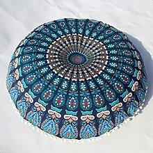 Rosennie Mode Neu Rund Indische Mandala Kissen