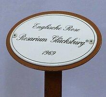 Rosenschild Emaille, Englische Rose Rosarium