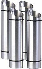 Rosenstein & Söhne Heizkörper-Verdunster: 4er-Set Edelstahl-Wasserverdunster für Heizkörper (Luftbefeuchter für Heizperioden, Sommerhitzen)