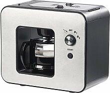 Rosenstein & Söhne Kaffeeautomat: Vollautomatische Design-Kaffeemaschine mit Bohnen-Mahlwerk, 800 Watt (Kaffee-Vollautomat)