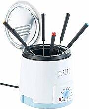 Rosenstein & Söhne Kleine Fritteuse: Mini Tisch Fritteuse mit Fondue-Set, 0,5 Liter, 600 Watt (Fritteuse mit Temperaturregelung)