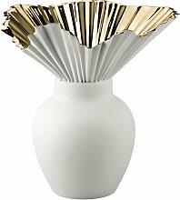Rosenthal - Falda Vase, Gold titanisiert