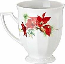 Rosenthal Maria Winter Rose Becher mit Henkel, Porzellan, Rot, 30 x 20 x 10 cm