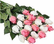 Roses künstliche Kunststoff Bouquet Hochzeit festliche Dekorationen Heimtextilien Ornamente ( Farbe : B )