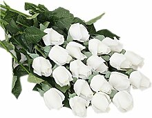 Roses künstliche Kunststoff Bouquet Hochzeit festliche Dekorationen Heimtextilien Ornamente ( Farbe : H )