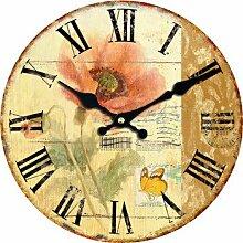Roses Wanduhr Blumen-Entwurfs-Mode Stille Wohnzimmer-Wand-Dekor-Saat Home Decoration