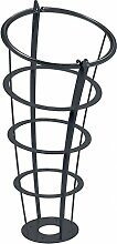Rossignol Elice Extreme Abfallkorb mit Standfuss 65L aus feuerverzinktem Stahl, Farbe:Anthrazitgrau ma