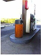 Rossignol Zeno Abfallbehälter Holz/Metall,