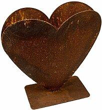 Rost Herz zum bepflanzen Metall Gartendeko