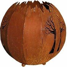 Rost-Kugel Baum D 30 cm