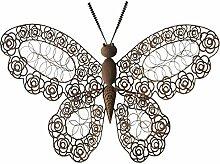 Rost Optik Schmetterling Metall 71x57cm Garten Terrasse Wand Dekoration