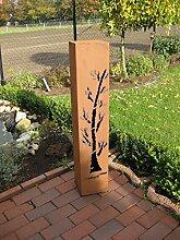 Rost Säule RS37 kostenloser Versand /Gartensäulen Blumensäule Fackel Gartendeko Deko rostig Rostsäule