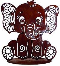 Rostalgie Edelrost Elefant Benjamin 26 x 25 cm