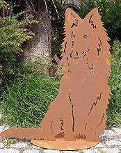 Rostalgie Edelrost Schäferhund Nero auf Platte