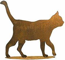 Rostige Gartendeko - Edelrost Tier: Große Katze