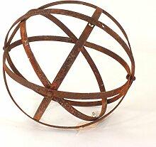 Rostkugel aus Metallstreifen, Gartendeko, Ø 20 cm