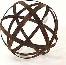 Rostkugel aus Metallstreifen, Gartendeko, Ø 30 cm