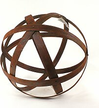 Rostkugel aus Metallstreifen, Gartendeko, Ø 40 cm