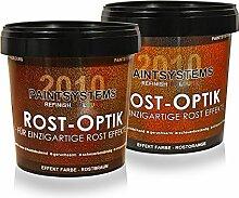 Rostoptik Wandfarbe-Rosteffekt 2 x 1,0 Liter+