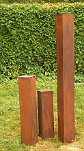 Rostsäulen Gartendeko Rost Familie 150cm, 80cm,