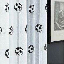 rostsp Vorhang Fußball Vorhänge Bestickte Kinder