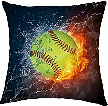 Rosy Wolken Baseball Ball in Feuer und Wasser